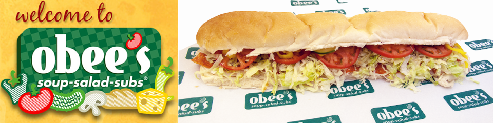 Obee's soups salads subs